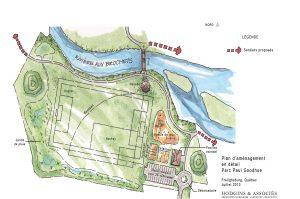 Hodgins-heta-architectes-paysagistes-Plan d'aménagement en détail Parc Paul Goodhue