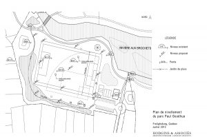 Hodgins-heta-architectes-paysagistes-Plan de nivellement du parc Paul Goodhue